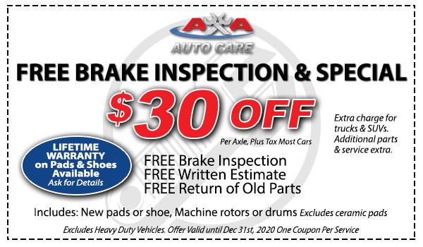 Brake Replacement Coupon Las Vegas